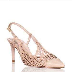 KATE SPADE Nude Pink Slingback Cutout Heels Size 9
